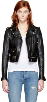 RE/DONE Black Leather Motorcycle Jacket