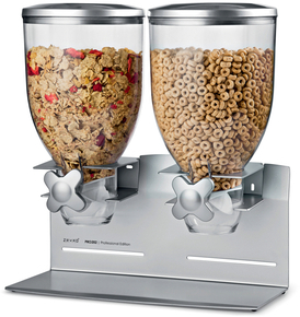 Zevro Professional Dry Food Dispenser Double Canister