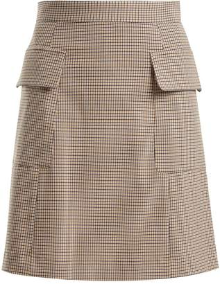 See by Chloe Checked flap pocket mini skirt