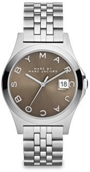 Marc by Marc Jacobs Henry Slim Stainless Steel Bracelet Watch/Dirty Martini $200 thestylecure.com