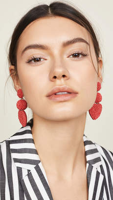 BaubleBar Vitina Heart Drop Earrings