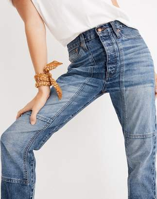 Madewell Rivet & Thread High-Rise Slim Boyjeans: Thigh-Patch Edition