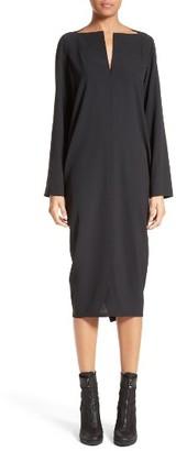 Women's Rick Owens Split Neck Dress $970 thestylecure.com