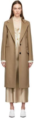 Joseph Tan Double Wool Gloss New Magnus Coat