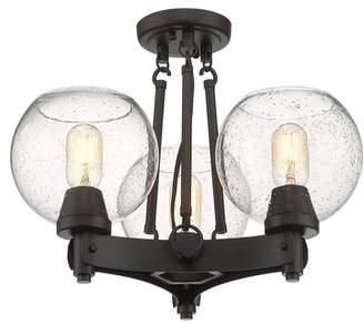 Fulton Trent Austin Design 3-Light Semi Flush Mount