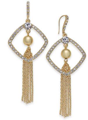 INC International Concepts I.n.c. Gold-Tone Crystal, Ball & Chain Tassel Drop Earrings