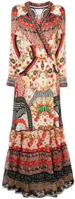 Camilla floral print maxi wrap dress