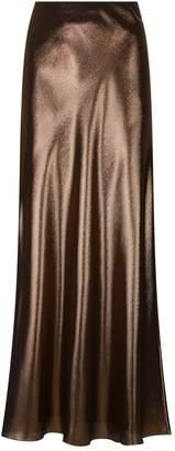 Alberta Ferretti Metallic Maxi Skirt