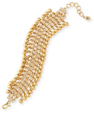 Sequin Golden Statement Bracelet