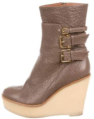 Derek Lam Leather Wedge Boots gold Leather Wedge Boots