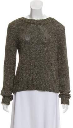 A.L.C. Metallic Crochet Sweater