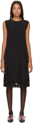 Marc Jacobs Black Pleated Drop Waist Dress