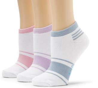 Ecco Women's No Show Logo Assorted Color Socks, Lavender/Powder Blue/Pink, 9/11