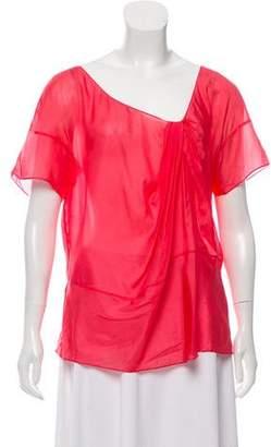Chloé Silk Short Sleeve Top