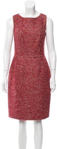 Christian Dior Wool Houndstooth Dress