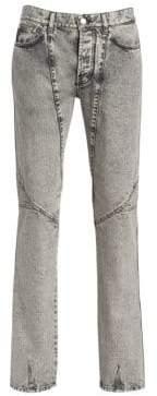 Givenchy Skinny Acid Wash Moto Jeans