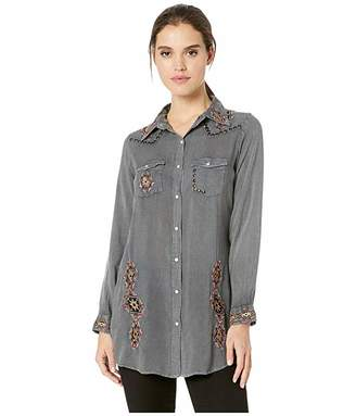 Scully Nailhead Embroidered Tunic