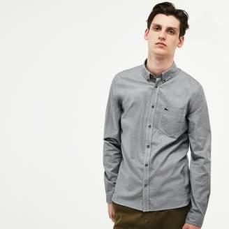 Lacoste Men's Slim Fit Houndstooth Print Poplin Shirt