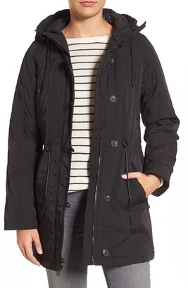 Women's Marc New York By Andrew Marc 'Chrissy' Rain Coat With Removable Hood $298 thestylecure.com
