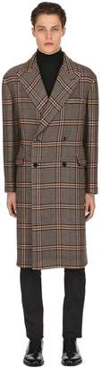 Tagliatore Oversized Wool Blend Houndstooth Coat