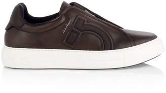 Salvatore Ferragamo Tasko Slip-On Leather Sneakers