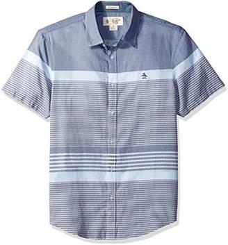 Original Penguin Men's Short Sleeve Bold Stripe Shirt