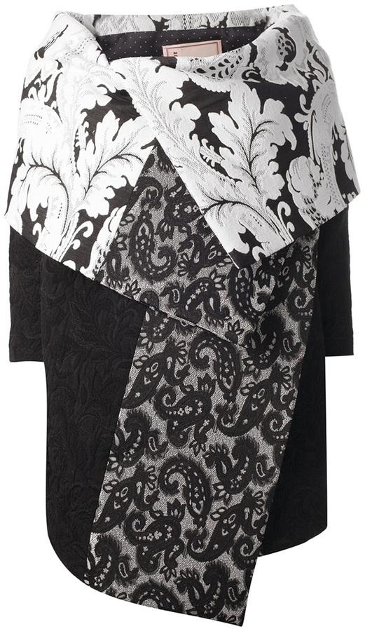 Antonio Marras printed cape coat