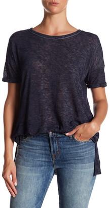 Bobeau Short Sleeve Asymmetrical Knit Tee $44 thestylecure.com