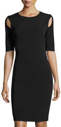 Philosophy Half-Sleeve Shoulder-Cutout Sheath Dress, Black $89 thestylecure.com