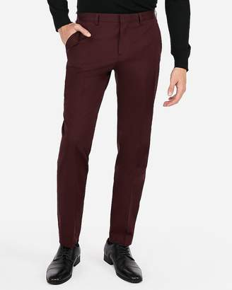 Express Classic Burgundy Stretch Cotton-Blend Suit Pant