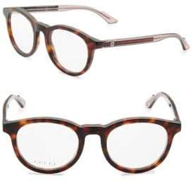 Gucci Oval 38MM Tortoiseshell Glasses
