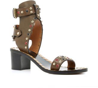 Isabel Marant Jaeryn studded sandals $900 thestylecure.com