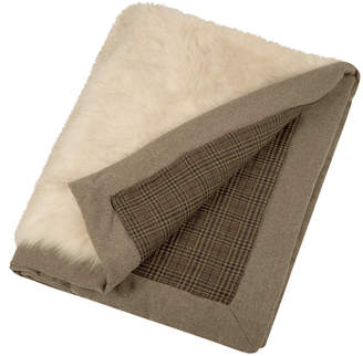 Etro Hesdin Reversible Faux Fur Throw - Beige