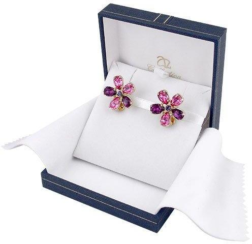 A-Z Collection Flower Gold Plated Clip-On Earrings