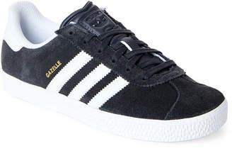 adidas Kids Boys) Dark Grey & White Gazelle Low-Top Sneakers