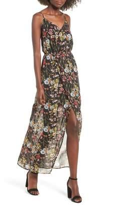 Mimichica Mimi Chica Surplice High/Low Maxi Dress