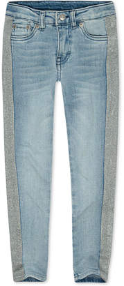 Levi's Big Girls 710 Super Skinny Bleach-Out Star Jeans