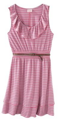 Mossimo Juniors Peter Pan Ruffle Dress w/ Belt - Assorted Colors
