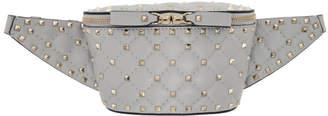 Valentino Grey Garavani Rockstud Belt Bag