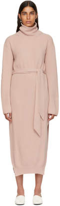 Nanushka Pink Canaan Knit Turtleneck Dress