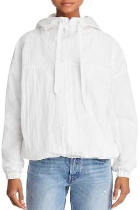 KENDALL + KYLIE Crinkled Windbreaker Jacket