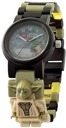 Lego Star Wars 8021032 The Last Jedi Yoda Kids Minifigure Link Buildable Watch | green/black| plastic | 28mm case diameter| analogue quartz | boy girl | official