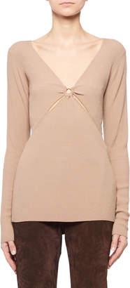 Altuzarra Ribbed Sweater w/ Ring Detail