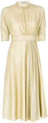 Prada velvet high collar dress
