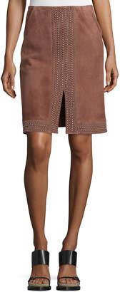 Elizabeth and James Riva Embellished Suede Skirt