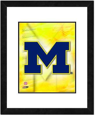 "NCAA Kohl's Michigan Wolverines Team Logo Framed 11"" x 14"" Photo"