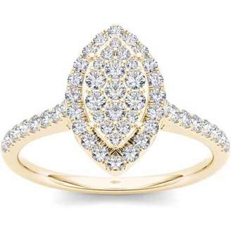 Imperial Diamond Imperial 3/4 Carat T.W. Diamond 10kt Yellow Gold Marquise-Shape Engagement Ring