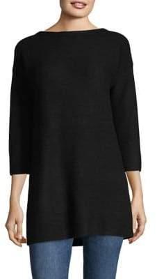 Ply Cashmere Three-Quarter Sleeve Cashmere Tunic