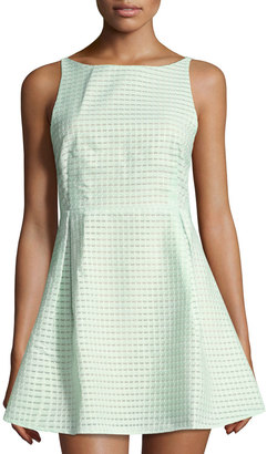 Lucca Couture Fit-and-Flare Organza Dress, Light Green $75 thestylecure.com
