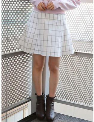 dazzlin (ダズリン) - dazzlin バックルフレアミニスカート